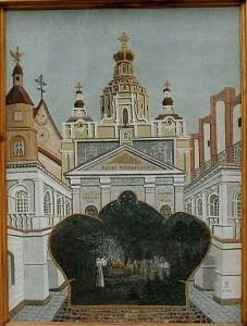 Vilniaus architektūra akmens tapyboje.