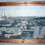 [:lt]S. Petraškos paveiksle – akmeninė Anykščių panorama.[:en] [:ru]